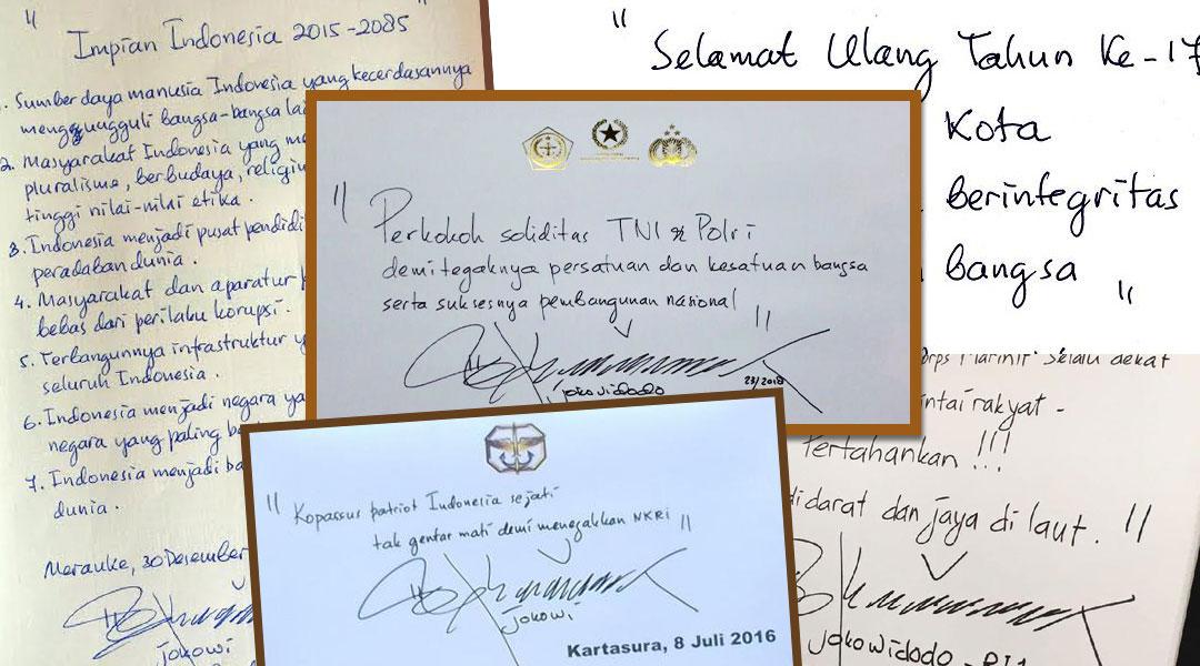tulisan tangan jokowi